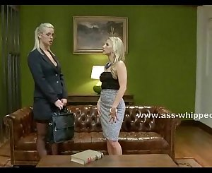 Blonde mistress enjoys blonde lesbian