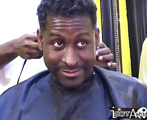 ThrowBack - Summer get gang-fucked in the Barber Shop