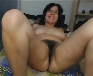 MILF Has Hairy Pussy And Nut For Hardcore Playing